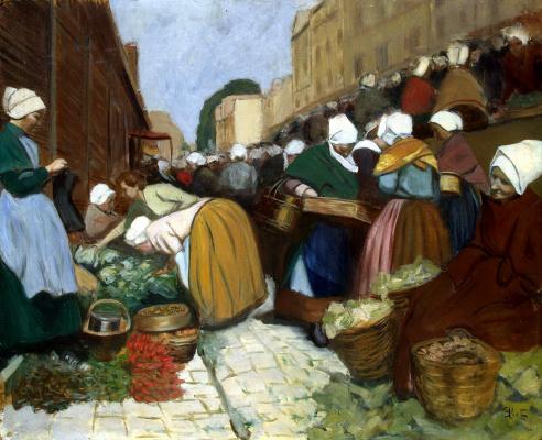 Фернан Пие. Рынок в Бресте