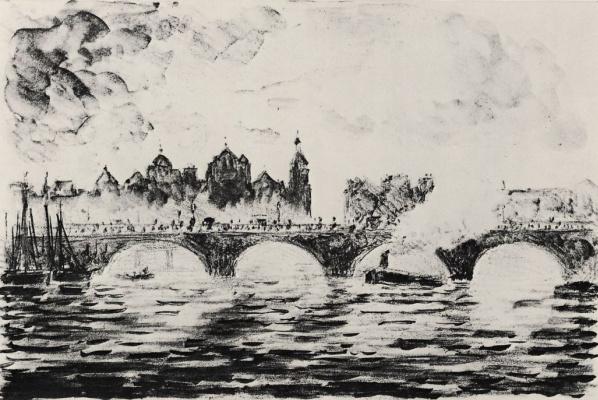 Camille Pissarro. The Parliament building in London