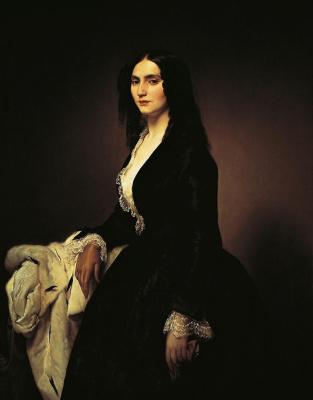Francesco Ayets. Portrait of Matilda Juva Branca