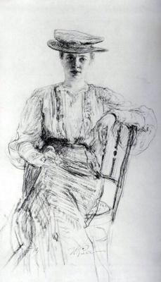 Ilya Efimovich Repin. Portrait Of Natalia Nordmann