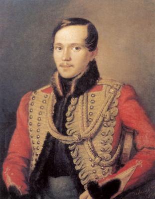 Peter Efremovich Zabolotsky. Portrait of the poet Mikhail Lermontov