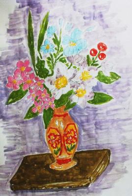 Irina Alexandrovna Sokolova. A bouquet of flowers in a vase
