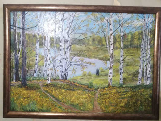 Vladimir Mikhailovich Korovin. Birch forest