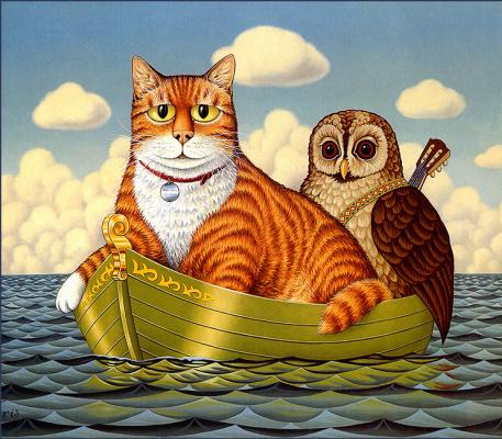 Фред Арис. Сова и кот
