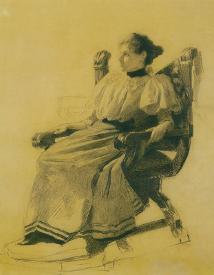 Sergey Arsenievich Vinogradov. Portrait of an unknown woman sitting in the chair