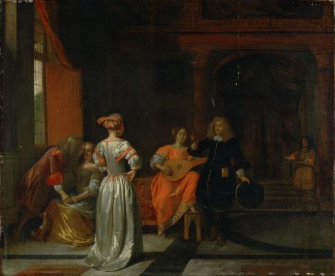 Pieter de Hooch. Party
