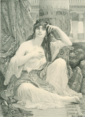 Alexandre Cabanel. Engraving