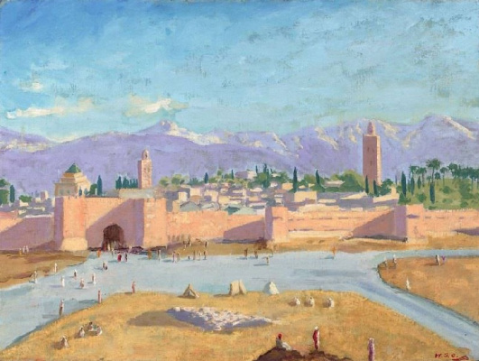 "Winston Churchill. ""Koutoubia Mosque"""