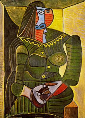Pablo Picasso. The woman in green (Dora Maar)