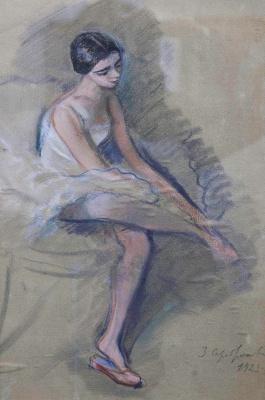 Zinaida Yevgenyevna Serebriakova. After the speech. Dancer E. N. Heidenreich