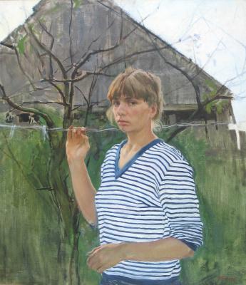 Ljubov Belych. The rainy summer. Self portrait