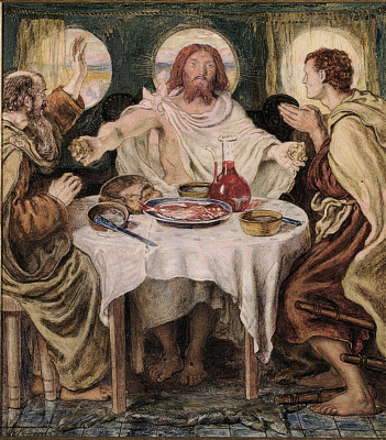 Ford Madox Brown. Supper at Emmaus