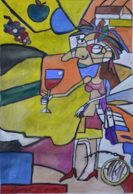 Kuznetsov.N. Drunken woman
