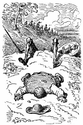 "Paul Gustave Doré. Illustration to the novel of Cervantes ""don Quixote"""
