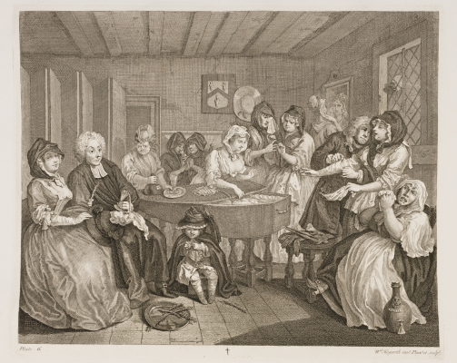 William Hogarth. Career prostitutes. Funeral