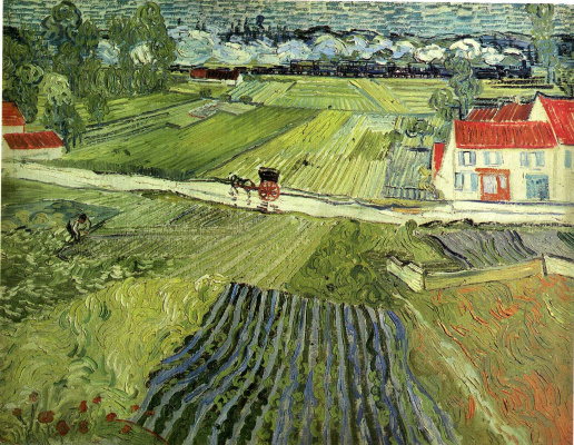 Vincent van Gogh. Landscape at Auvers after the Rain