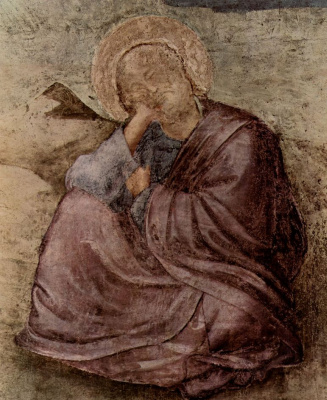 Giotto di Bondone. St. John on the island of Patmos. Scenes from the life of John the Evangelist. Fragment
