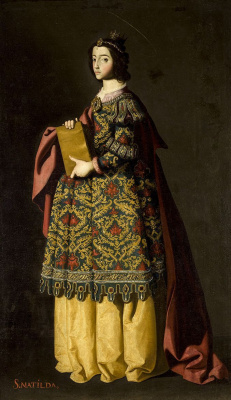 Francisco de Zurbaran. Saint Matilda