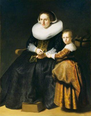 Рембрандт Харменс ван Рейн. Портрет Сусанны Пелликорн с дочерью Евой