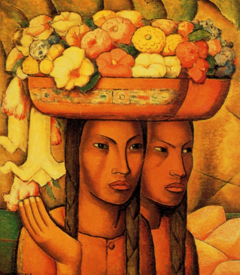 Alfredo Ramos Martinez. Sellers of flowers