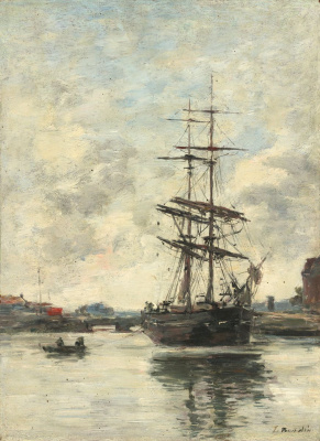 Eugene Boudin. Ship by Tuk