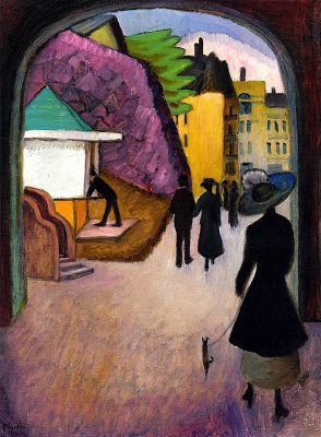 Gabriele Münter. May evening in Stockholm