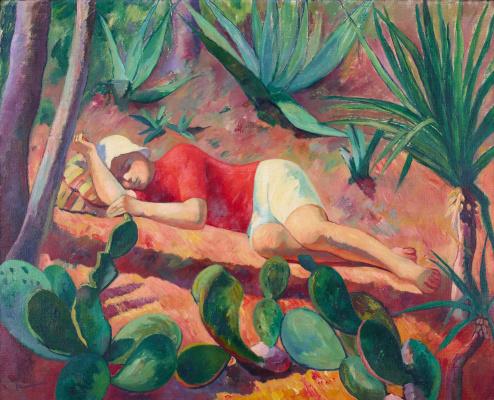Henri Manguin. Sleeping boy