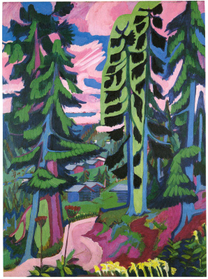 Ernst Ludwig Kirchner. Forest in the mountains
