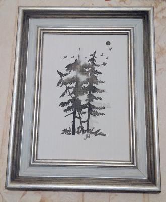 Marina Bocharova. Misty pines