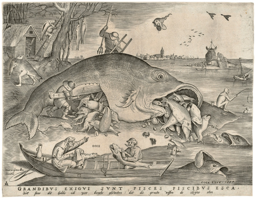 Pieter Bruegel The Elder. Big Fish Eat Little Fish