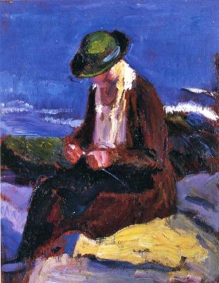 Ли Фридлендер. Рукодельница в зеленой шляпе