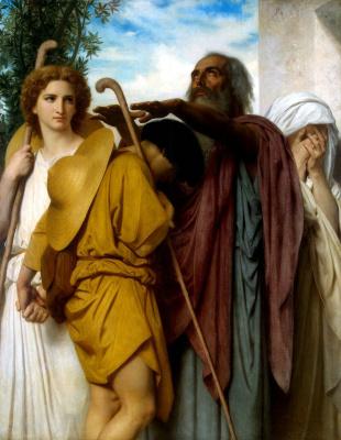 William-Adolphe Bouguereau. Farewell of Tobias's father