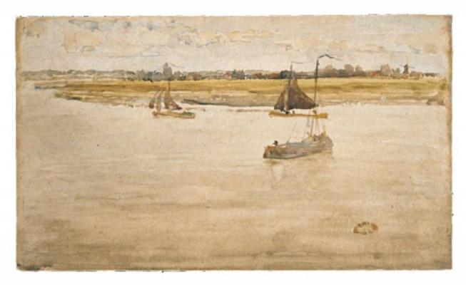 James Abbot McNeill Whistler. Gold and brown: Dordrecht
