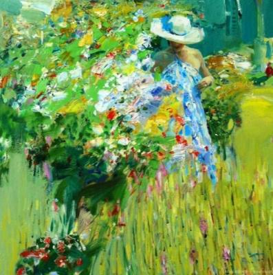 Alexander Vladimirovich Gorbikov. In the garden.