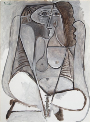 Pablo Picasso. Woman squatting