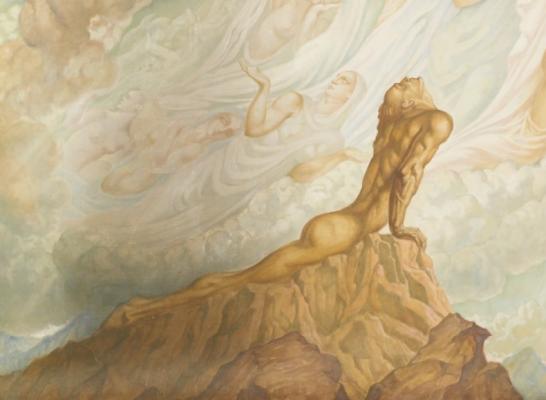 Jean Delville. Ideas. Heaven on earth. Fragment