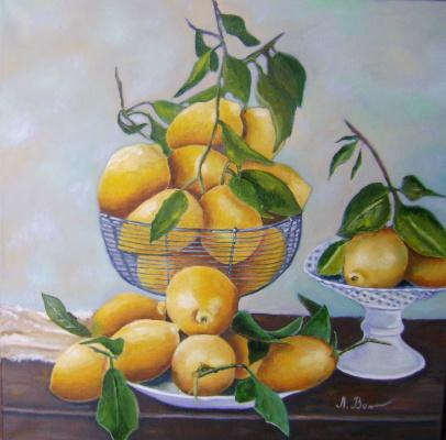 Lyubov Viktorovna Volobaeva. Lemon Still Life