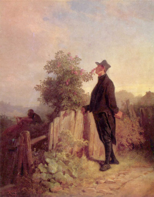 Karl Spitzweg. Roses without thorns does not happen
