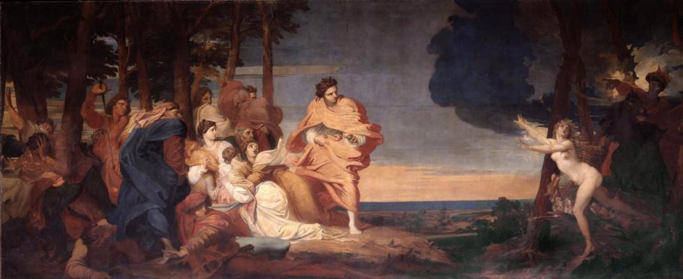 Джордж Фредерик Уоттс. История из Боккаччо. 1844-1847