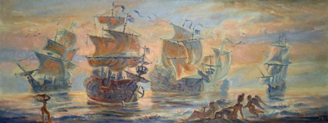 Daniil Litvinov. Закат на море