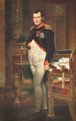 Jacques-Louis David. Napoleon Bonaparte in the office in the Tuileries. Option 2