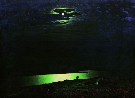 Arkhip Ivanovich Kuindzhi. Moonlit night on the Dnieper