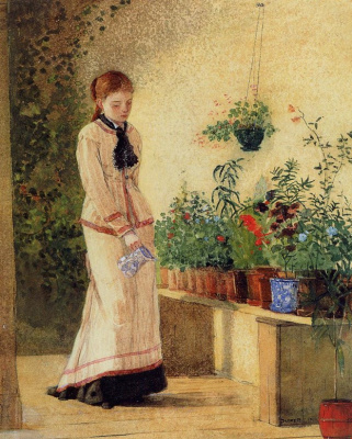Winslow Homer. Girl watering flowers