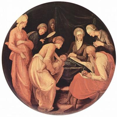 Якопо Понтормо. Рождество Иоанна Крестителя