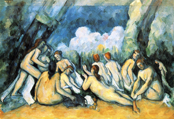 Paul Cezanne. Large bathers