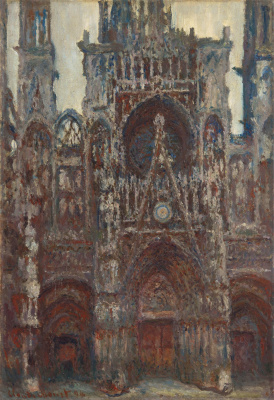 Claude Monet. Rouen Cathedral, evening, harmony in brown