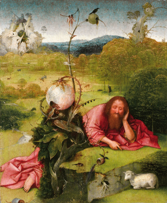 Hieronymus Bosch. St. John the Baptist in the wilderness