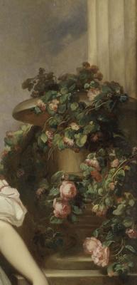 Franz Xaver Winterhalter. Portrait of Princess Clementine of Orleans. Fragment II