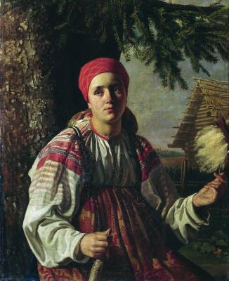 Карл-Фридрих Петрович Бодри Россия 1812 - 1894. Spinner. 1844