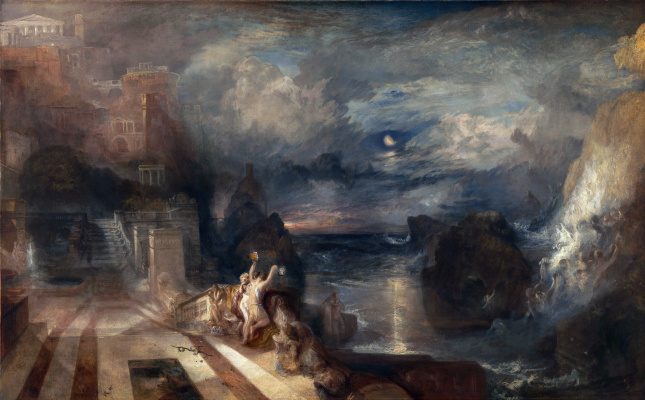 Joseph Mallord William Turner. The parting of hero and Leander